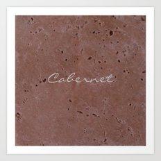 Cabernet Wine Red Travertine - Rustic - Rustic Glam Art Print
