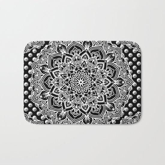 Black & White Yin Yang Mandala Bath Mat