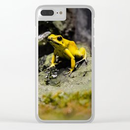 Golden Dart Frog Clear iPhone Case