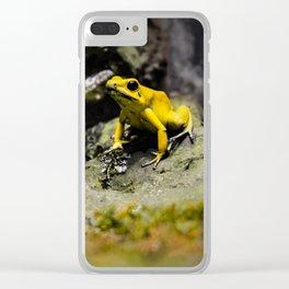 Golden Dart Frog Clear iPhone Case