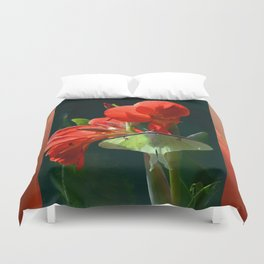 """Anticipation Of The Night"" - Luna moth Painting Duvet Cover"