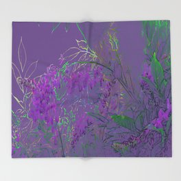 WISTERIA GARDEN 2 Throw Blanket