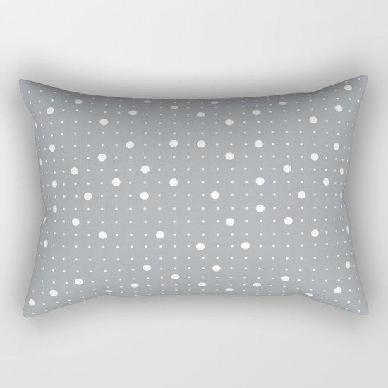Pin Points Grey Rectangular Pillow