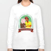vegan Long Sleeve T-shirts featuring Vegan by Bakal Evgeny