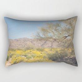 Joshua Tree Wildflowers Rectangular Pillow