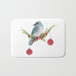 Christmas Bird - Winterland Bath Mat