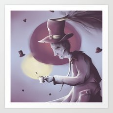 The hatter Art Print