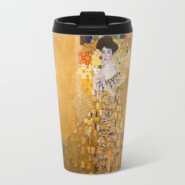 Gustav Klimt - Portrait of Adelle Bloch Bauer Travel Mug