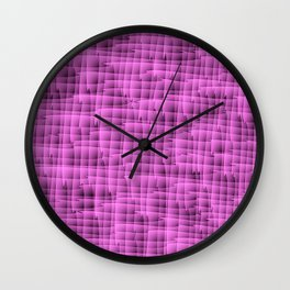 Square pastel curved with interweaving of the bark of a pink tree trunk. Wall Clock