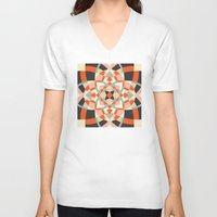 southwest V-neck T-shirts featuring Southwest Quilt #1 by Little Things Studio