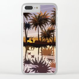 Allepey backwaters ft. Tuktuk Clear iPhone Case