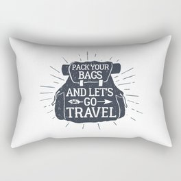 Pack Your Bags And Let's Go Travel Rectangular Pillow