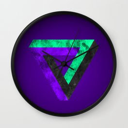 The infinity triangle inverted Wall Clock