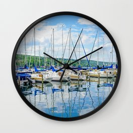 Glen Harbour Marina Wall Clock