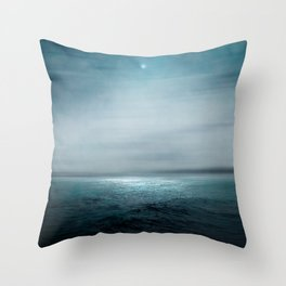Sea Under Moonlight Throw Pillow
