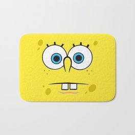 Spongebob Surprised Face Bath Mat