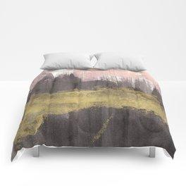 Black / Pink / Gold Comforters