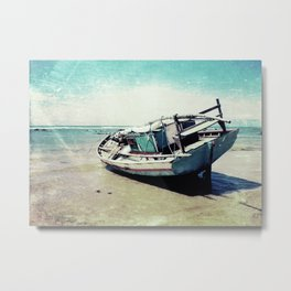 Waiting for the tide to change Metal Print