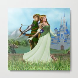 Zelda and link iPhone 4 5 6 7 case, pillow case, mugs and tshirt Metal Print
