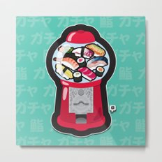 Gumball Sushi   ガチャ ガチャ 鮨 Metal Print