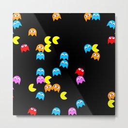 Pacman background Metal Print