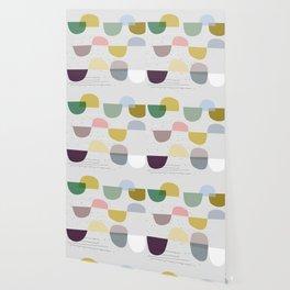 Mid century temporary art VIII Wallpaper