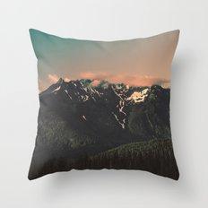 Good Morning, Cascadia Throw Pillow
