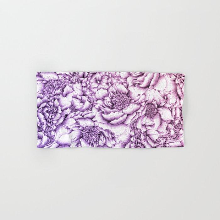 Peony Pattern Hand & Bath Towel