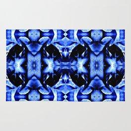 Blue Black  Fantasy Pattern Rug