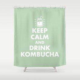 Keep Calm and Drink Kombucha Shower Curtain