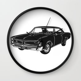 GTO Muscle Car Wall Clock