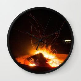 Sparks Will Fly Wall Clock