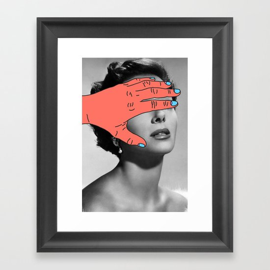 Burning Hands Framed Art Print