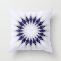 stargate Throw Pillows featuring Stargate by Mr. Pattern Man