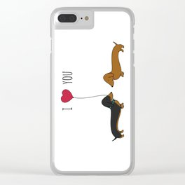 DACHSHUND LOVE Clear iPhone Case