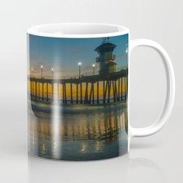 Pier Lights at Dusk Coffee Mug
