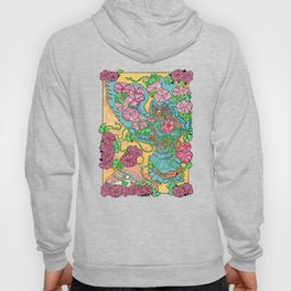 An Owl in Mourning Glory Hoody