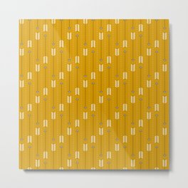 Arrows_Mustard Metal Print