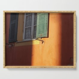 Shutter in South of France Serving Tray