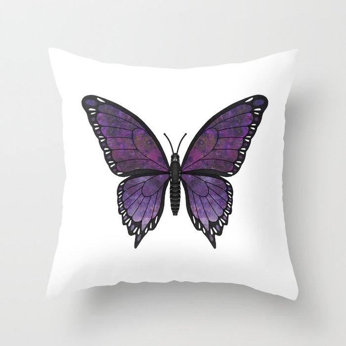 purple vanessa (Vanessae purpura) Throw Pillow