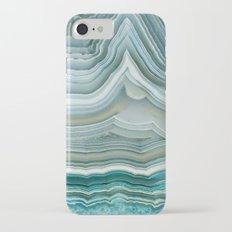 Agate Crystal Blue iPhone 7 Slim Case