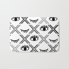 Original Black and White Eyes Design Bath Mat