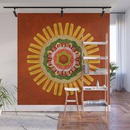 Bacon Cheeseburger with Fries Mandala Wall Mural