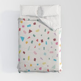 Rainbow Confetti Duvet Cover
