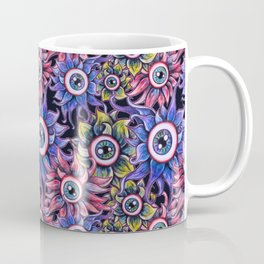 The Devil's Flower Garden - Demonic Eyeball Flowers Coffee Mug