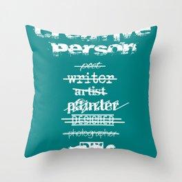 Creative Person Throw Pillow