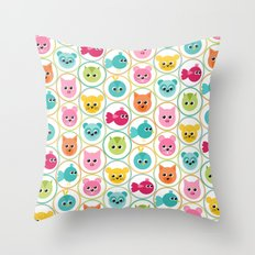 Tiny Critters 1 Throw Pillow