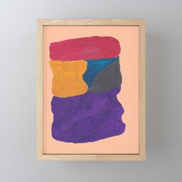 30   190330 Abstract Shapes Painting Framed Mini Art Print