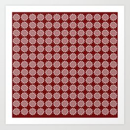 Red pattern - background abstract, vector, circle texture design. Art Print