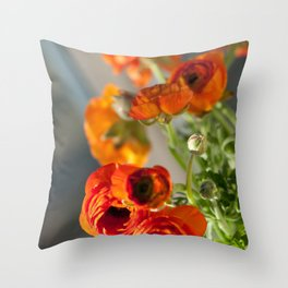 Orange you glad, ranunculus? Throw Pillow